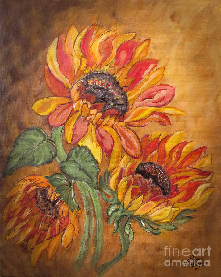 Sunflower Enchantment Painting  - Sunflower Enchantment Fine Art Print