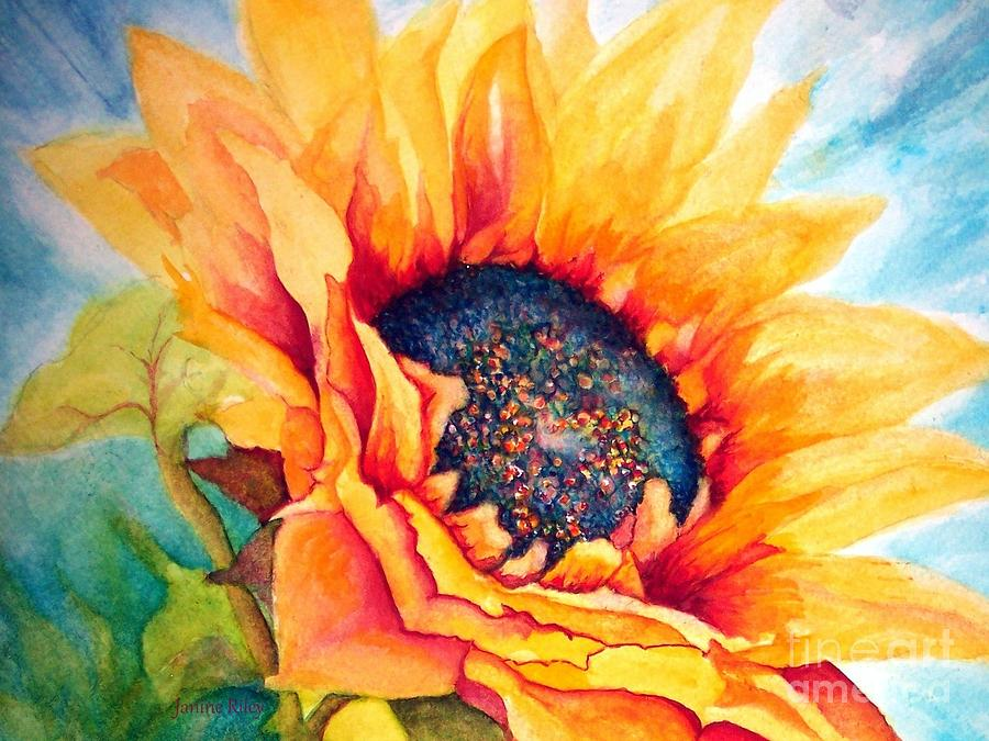 Sunflower Joy Painting  - Sunflower Joy Fine Art Print