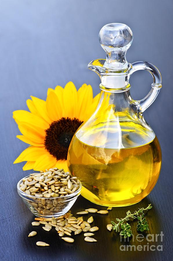 Sunflower Oil Bottle Photograph