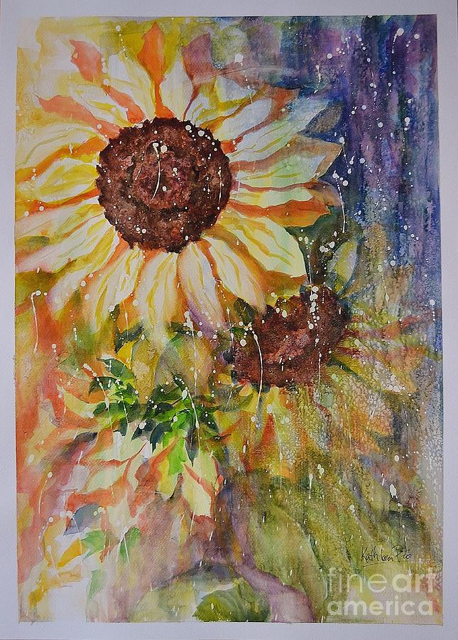 Sunflower Rain Painting