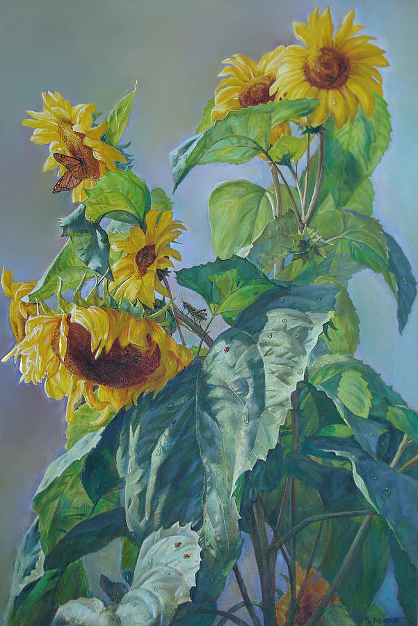 Sunflowers After The Rain Painting