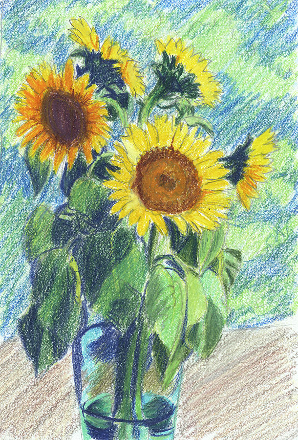 Sunflowers Painting  - Sunflowers Fine Art Print