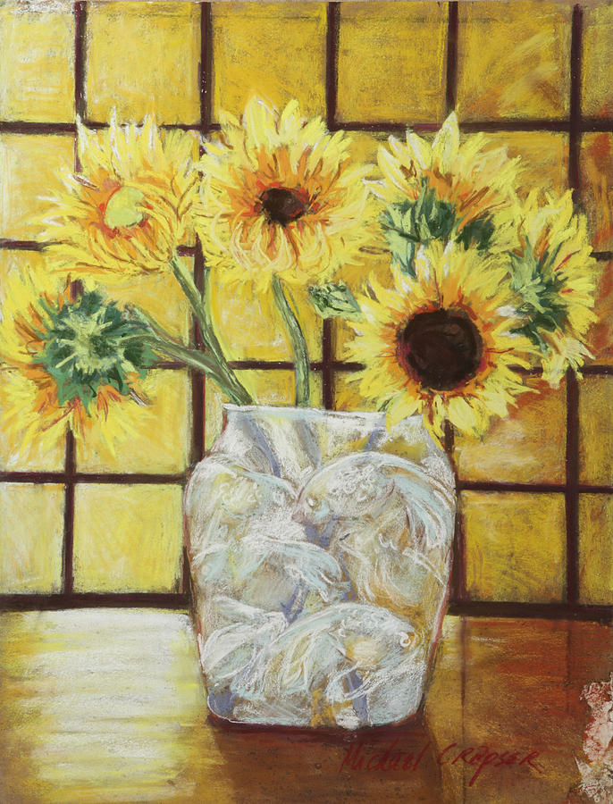 Sunflowers Pastel  - Sunflowers Fine Art Print