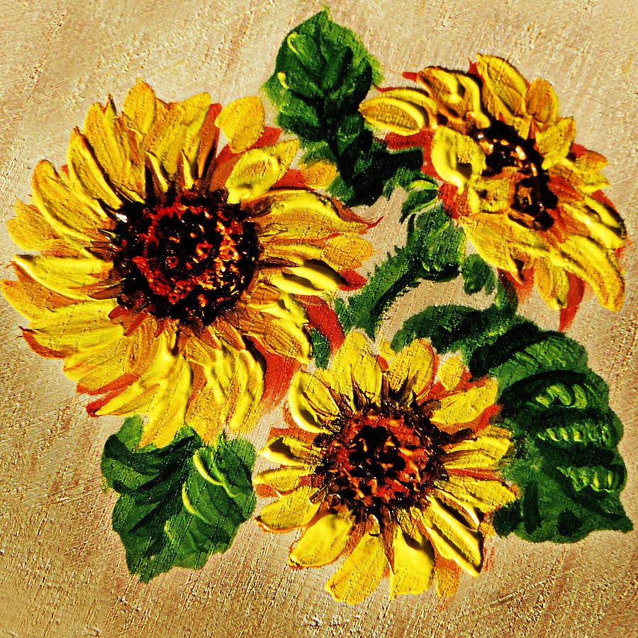 Sunflower Acrylic Painting