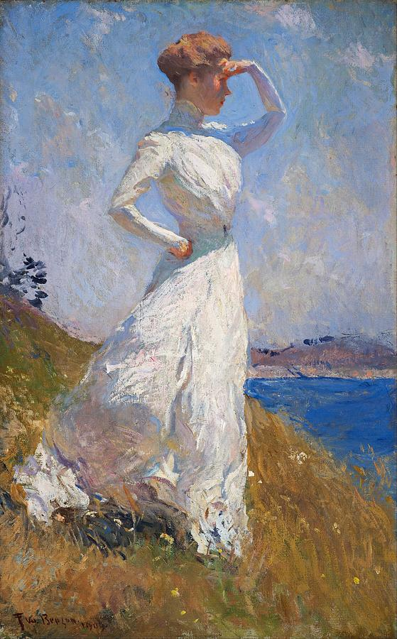 Sunlight Frank Weston Benson 1909 Painting