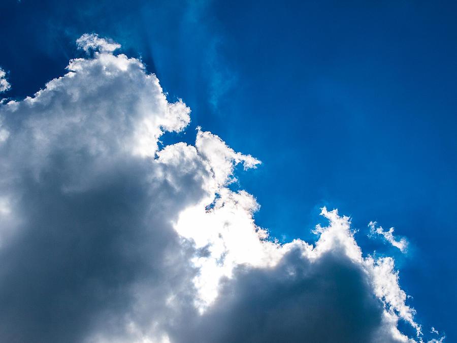 Sunlit Cloud Photograph  - Sunlit Cloud Fine Art Print
