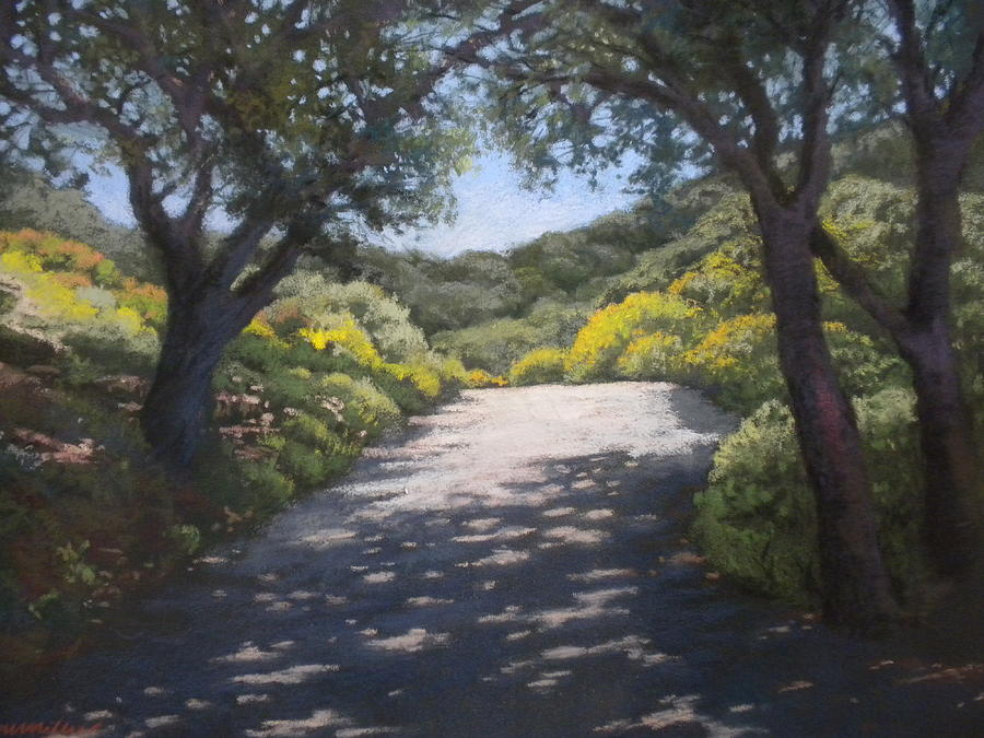 Sunlit Road Painting