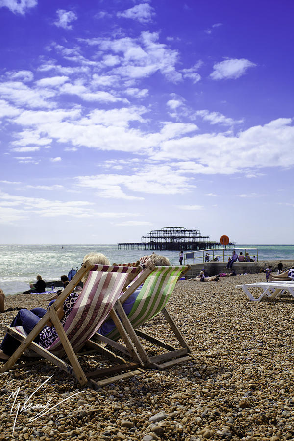 Brighton Photograph - Sunny Brighton by Max CALLENDER