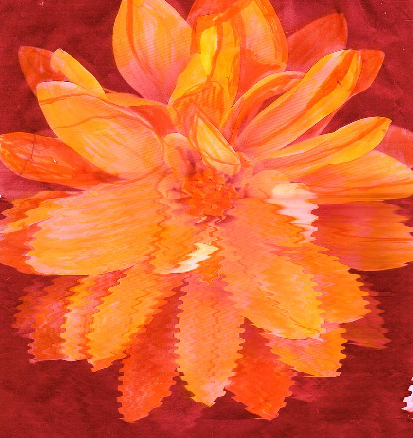 Sunny Burst Of Color Floral Mixed Media