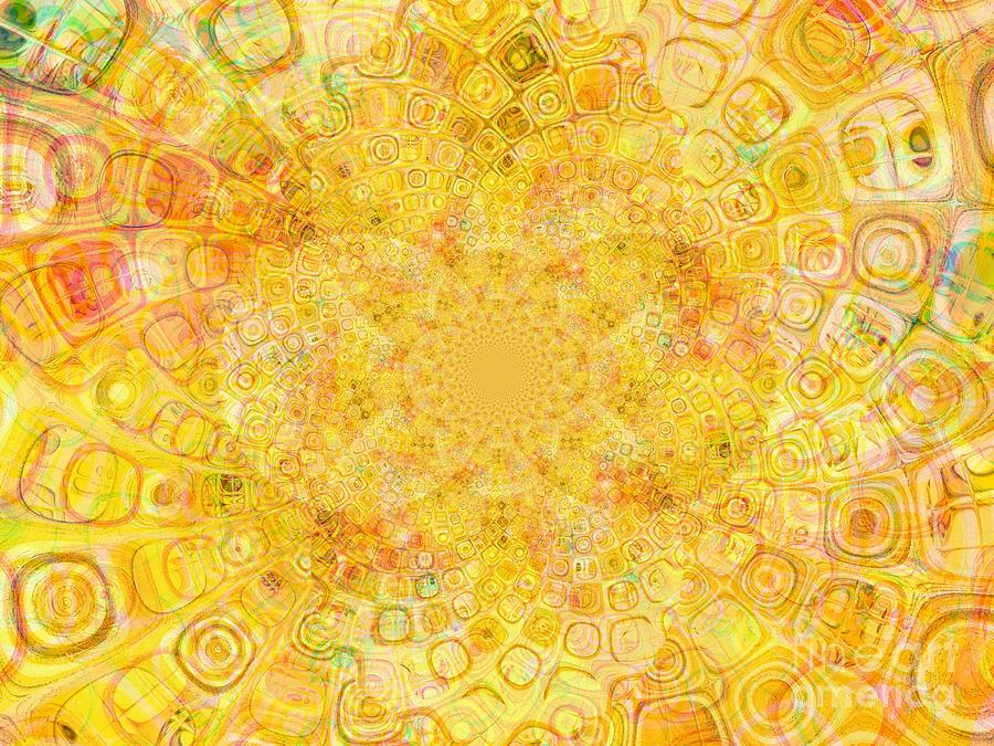 Sunny Center Digital Art  - Sunny Center Fine Art Print