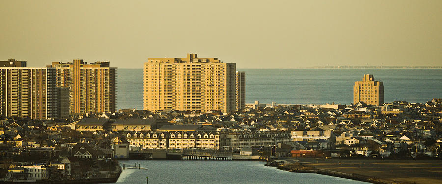 Sunny Day In Atlantic City Mixed Media  - Sunny Day In Atlantic City Fine Art Print