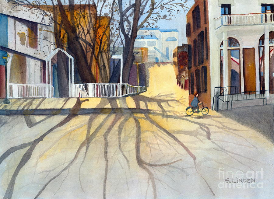 Sunny December Afternoon Painting  - Sunny December Afternoon Fine Art Print