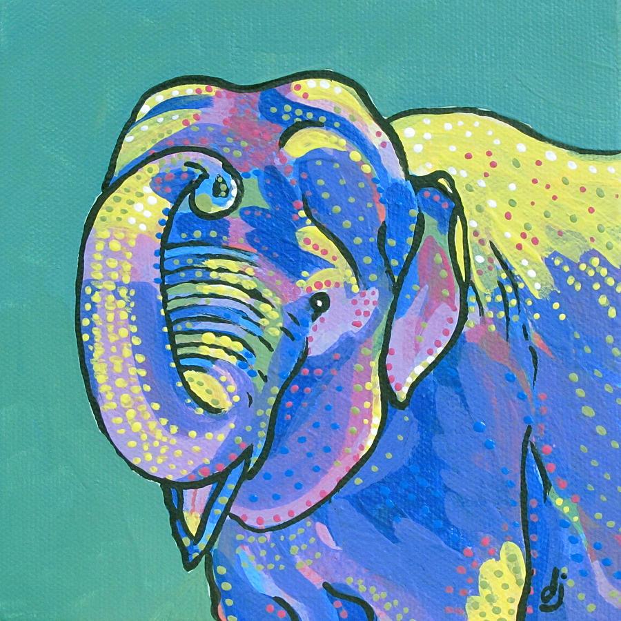 Acrylic Painting - Sunny Elephant by Dorothy Jenson