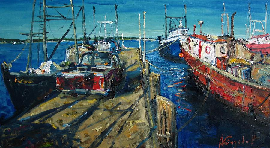 Sunny Pier Painting