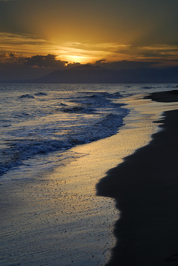 Seacape Photograph - Sunrays Over The Sea by Guido Montanes Castillo