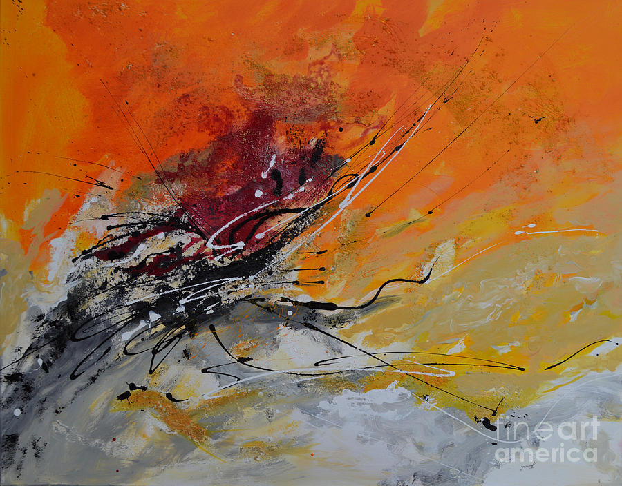 Sunrise - Abstract 1 Painting