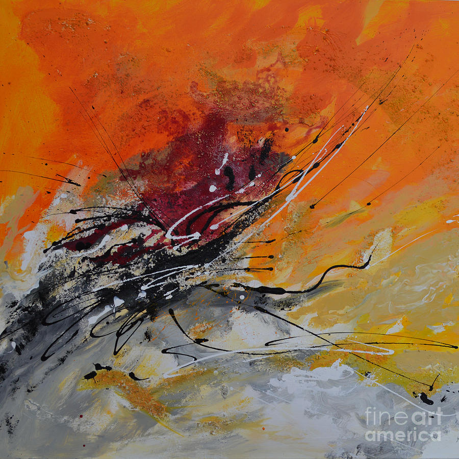 Sunrise - Abstract Painting  - Sunrise - Abstract Fine Art Print