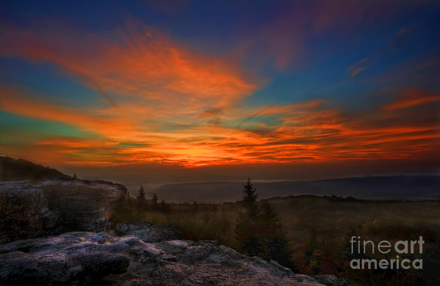 Sunrise At Bear Rocks In Dolly Sods Photograph