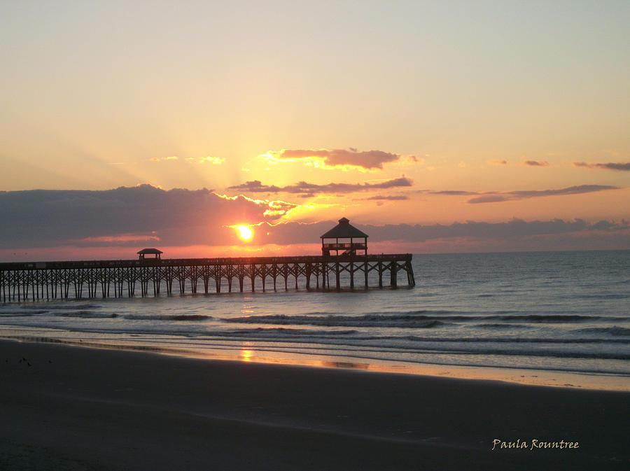 Sunrise At Folly Beach Photograph