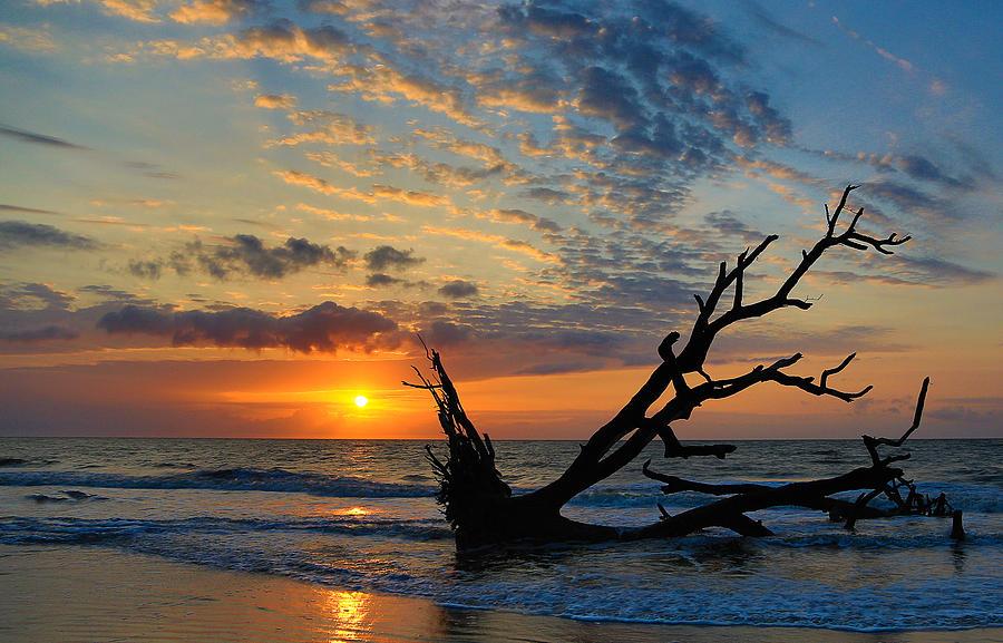 Sunrise At Hunting Island Beach In Beaufort Sc By Philip Heim