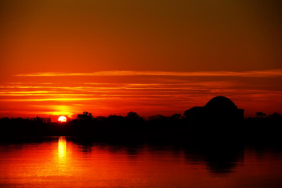Sunrise At Jefferson Memorial Photograph