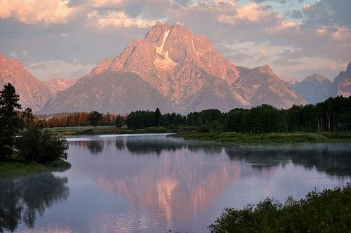 Grand Teton National Park Photograph - Sunrise At Oxbow Bend 1 by Marty Koch