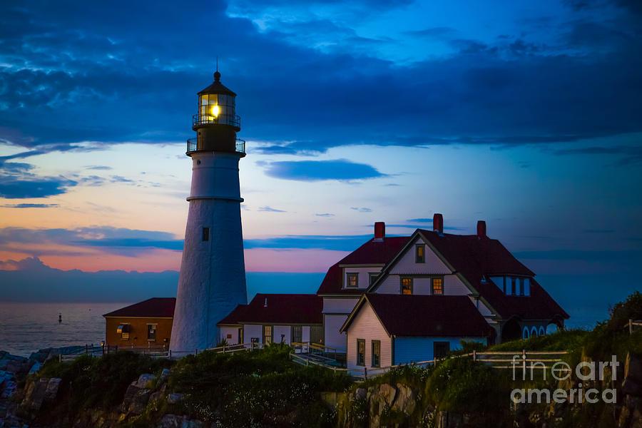 Sunrise At Portland Head Lighthouse Photograph