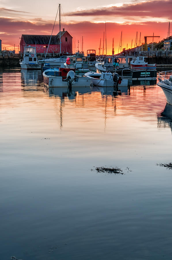 Sunrise At Rockport Harbor - Cape Ann Photograph
