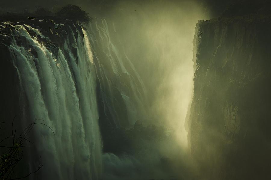 Sunrise At Victoria Falls Photograph