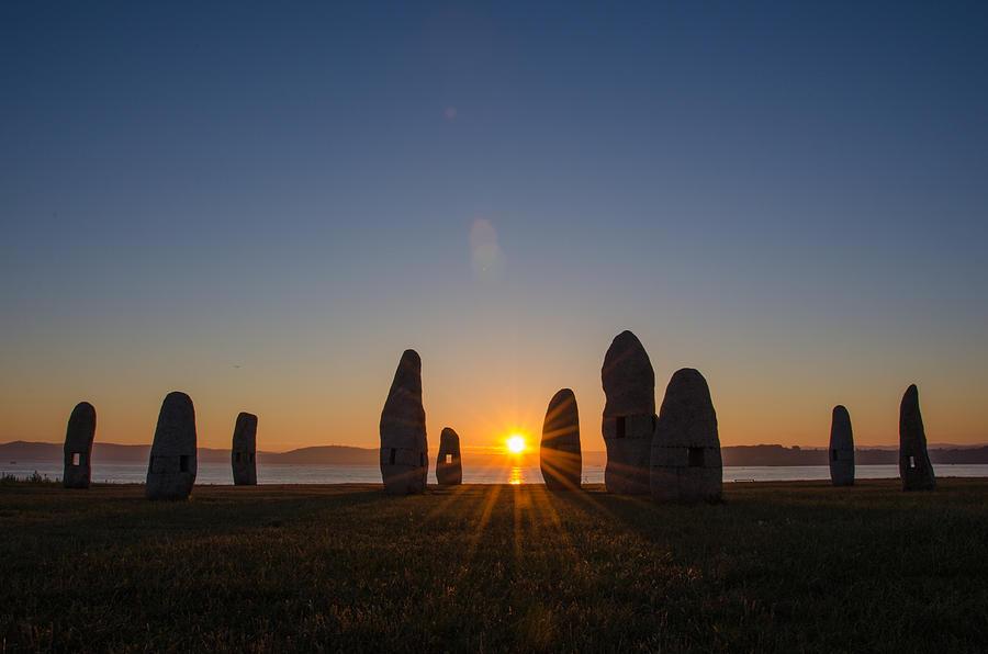 Sunrise Between Menhirs Photograph