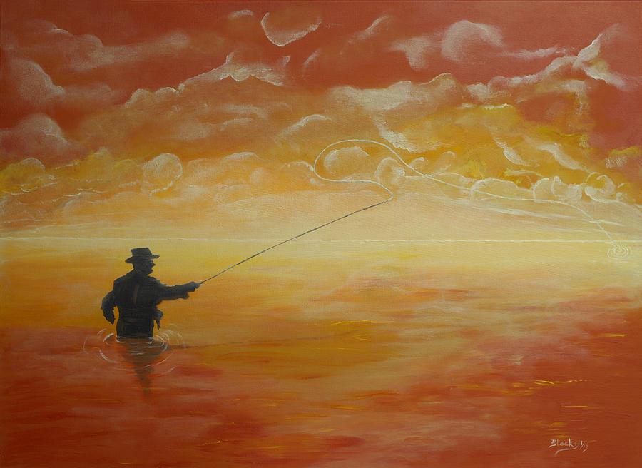 Sunrise Fishing Painting
