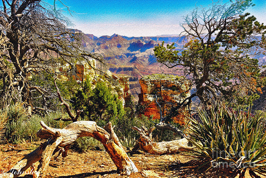 Sunrise From Yaki Point How Long Did It Take Digital Art  - Sunrise From Yaki Point How Long Did It Take Fine Art Print