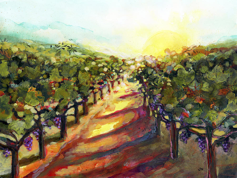 Sunrise In Napa Painting