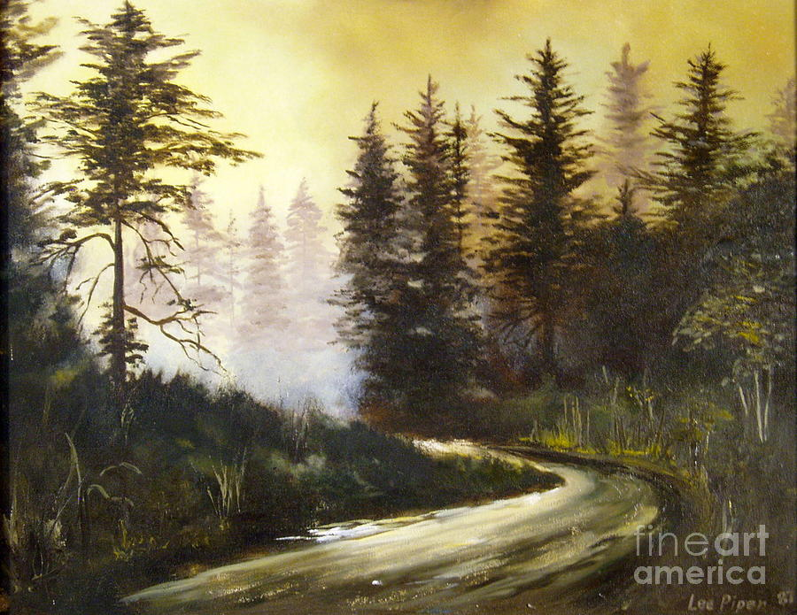 Sunrise In The Forest Painting