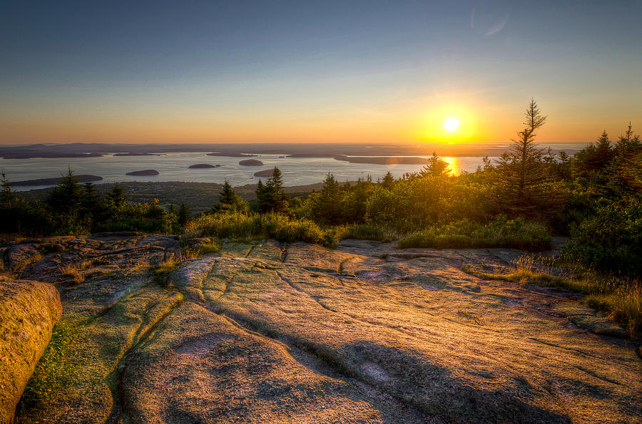 Sunrise On Cadillac Mountain Photograph  - Sunrise On Cadillac Mountain Fine Art Print