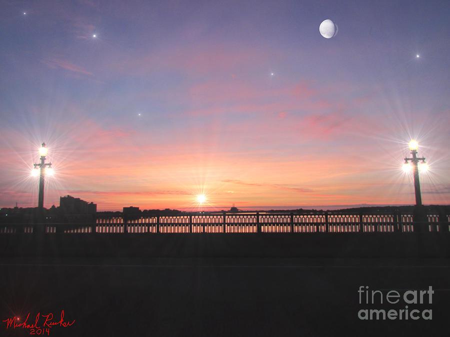 Sunrise Photograph - Sunrise On The Bridge by Michael Rucker