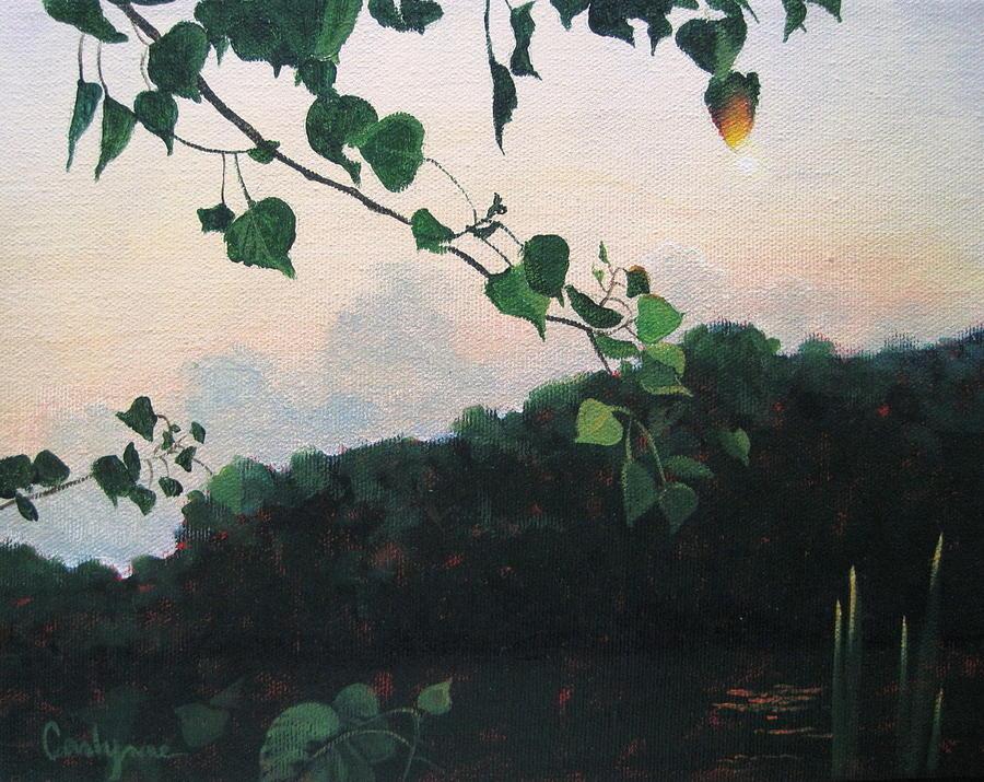 Sunrise On The Lake Painting