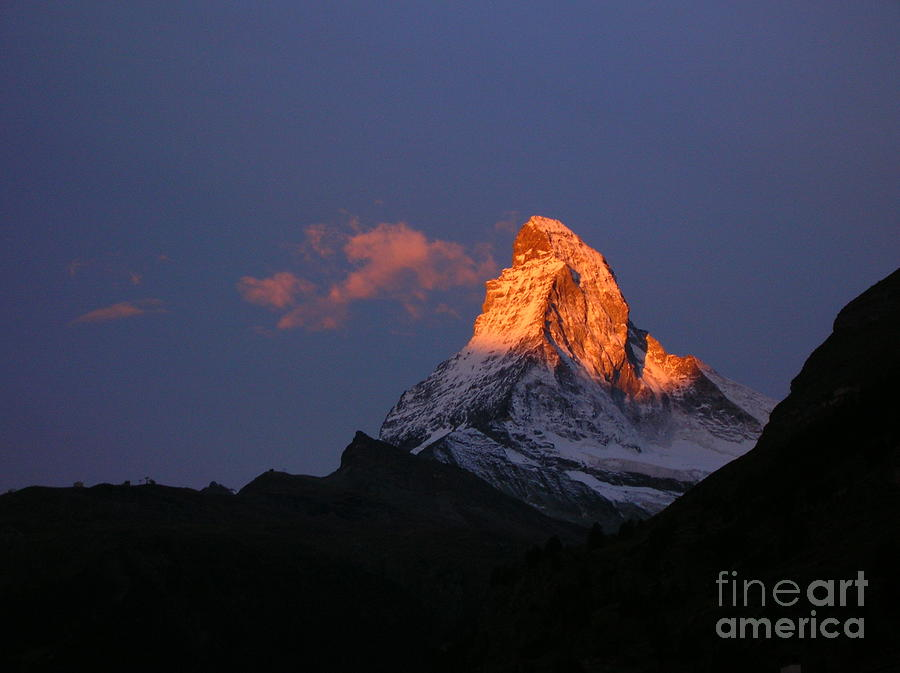 Sunrise On The Matterhorn Photograph