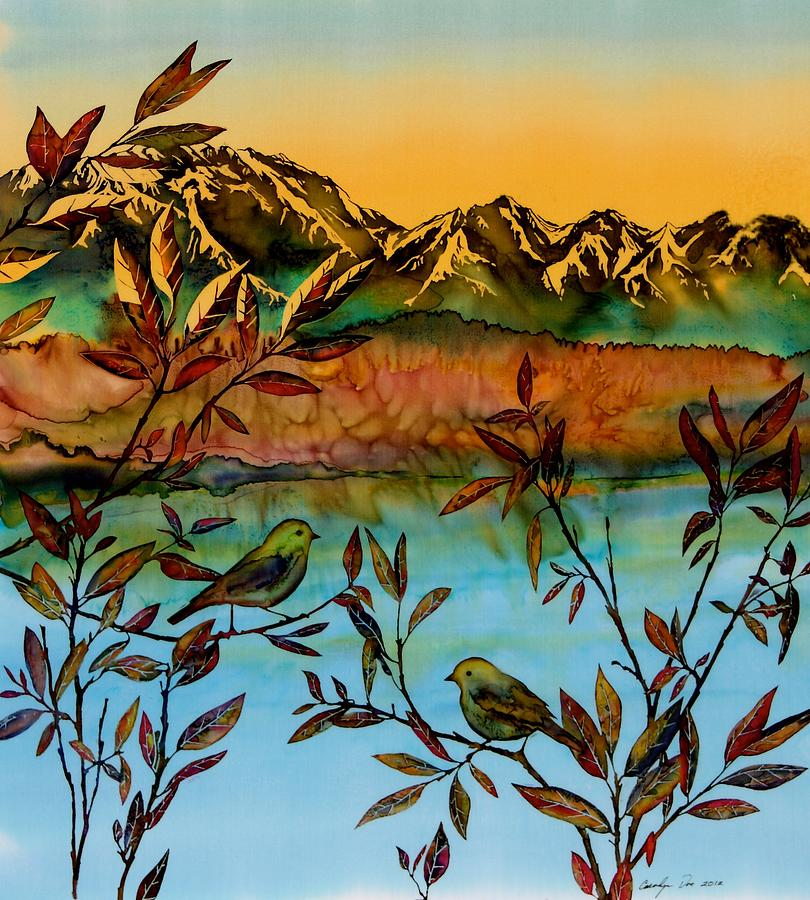 Sunrise Tapestry - Textile - Sunrise On Willows by Carolyn Doe