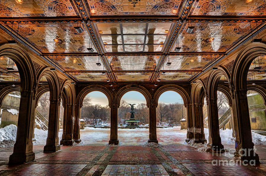 Sunrise over bethesda terrace lower passage photograph by for New walk terrace york