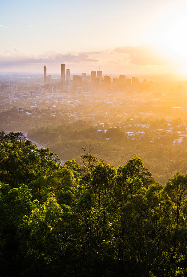 Sunrise Over Brisbane Photograph