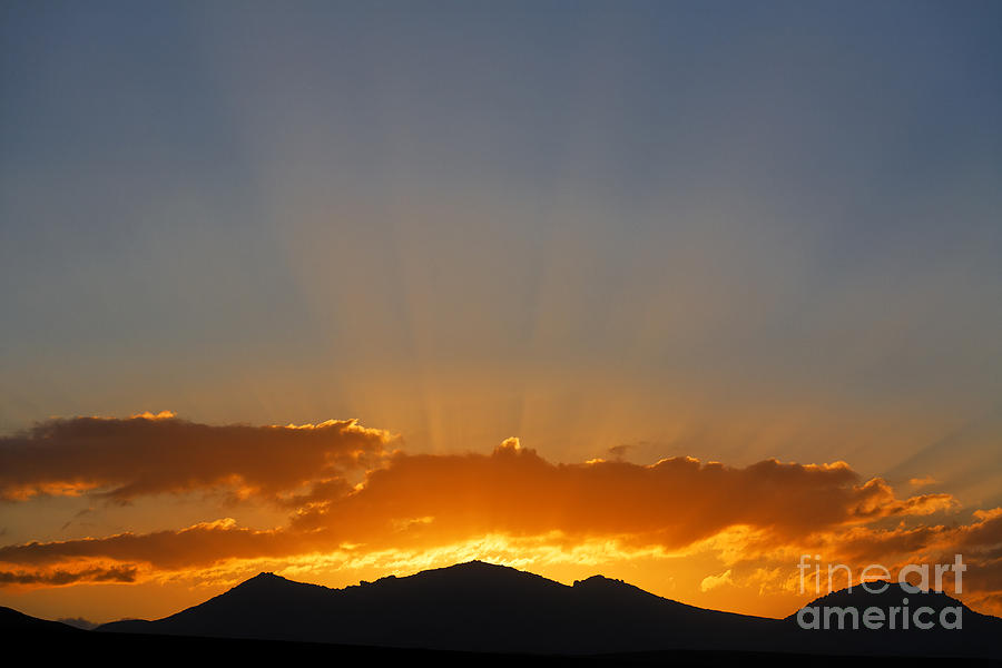 Sunrise Photograph - Sunrise Over Mountains by Robert Preston