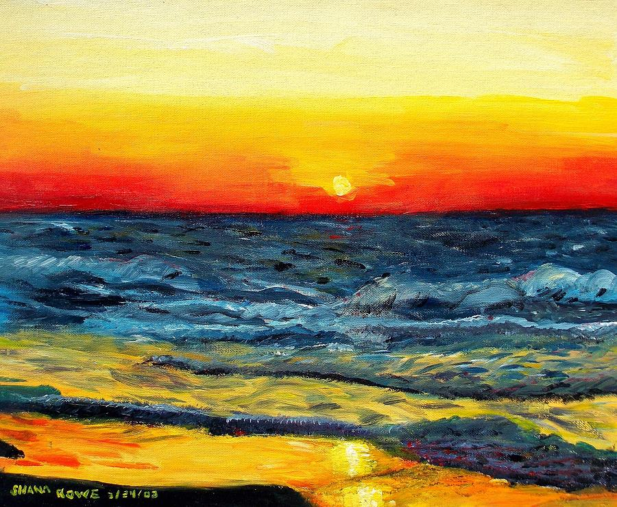 Sunrise Over Paradise Painting  - Sunrise Over Paradise Fine Art Print