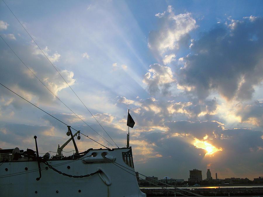 Sunrise Photograph - Sunrise Over Philadelphia  by Shoal Hollingsworth