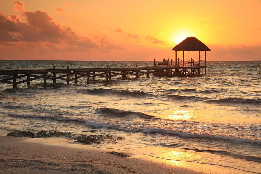 Sunrise Pier Photograph