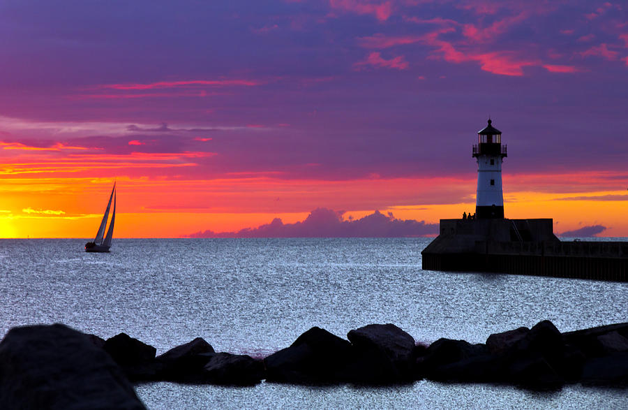Sunrise Sailing Photograph