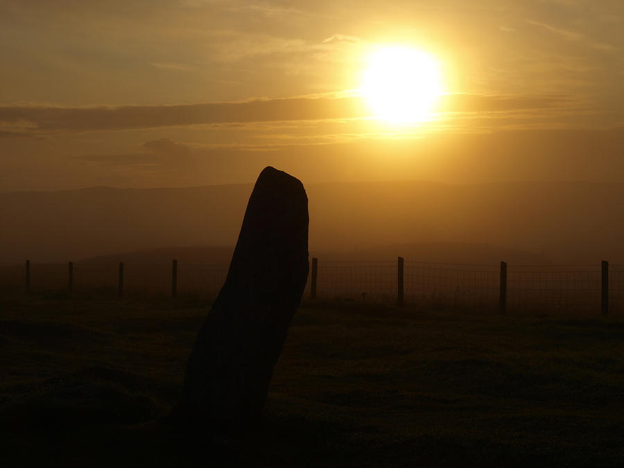 Sunrise Silhouette Scotland Photograph