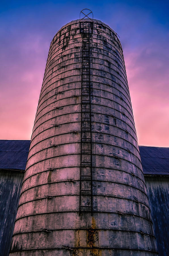 Sunrise Silo Photograph  - Sunrise Silo Fine Art Print