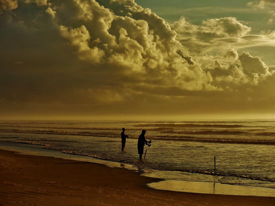 Sunrise Surf Fishing Photograph  - Sunrise Surf Fishing Fine Art Print