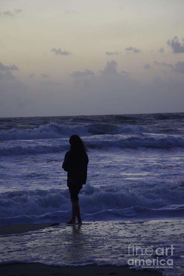 Woman Photograph - Sunrise Surf by Tannis  Baldwin